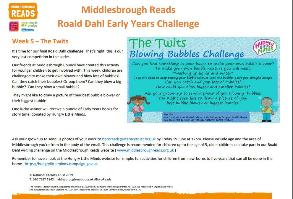 Middlesbrough Reads Early Years Challenge
