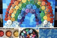 Rainbow-button-crafts