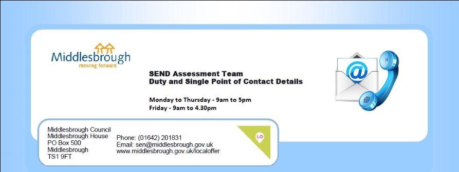 SEND Assessment Team contact details